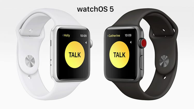 WWDC18: Apple presenta watchOS 5 con Walkie-Talkie, Podcast e altro ancora!