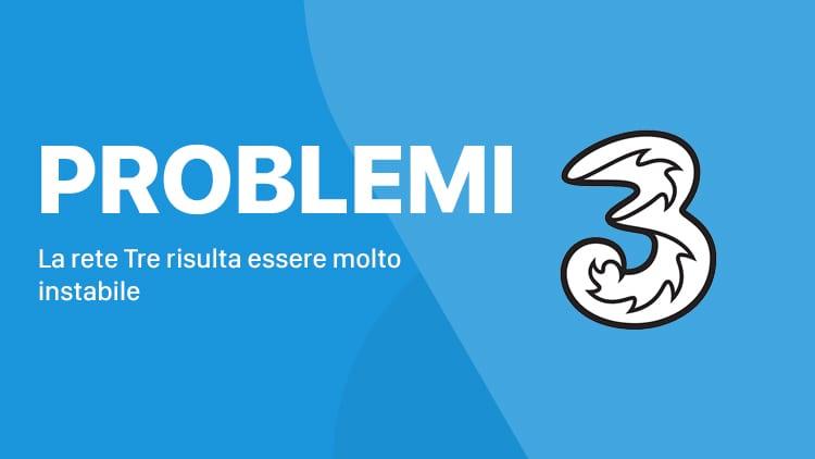 La rete Tre non funziona in diverse regioni italiane [AGGIORNATO]
