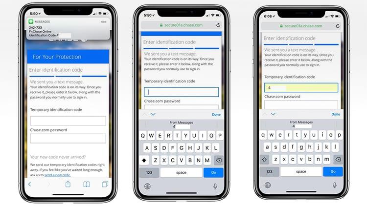 """Un ricercatore di sicurezza è preoccupato dalla funzione """"Riempimento Automatico dei Codici di Sicurezza """" di iOS 12"""