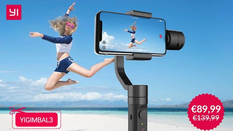 Arriva in Italia il Gimbal di Yi, un ottimo stabilizzatore per realizzare fantastici video con lo smartphone [Coupon]