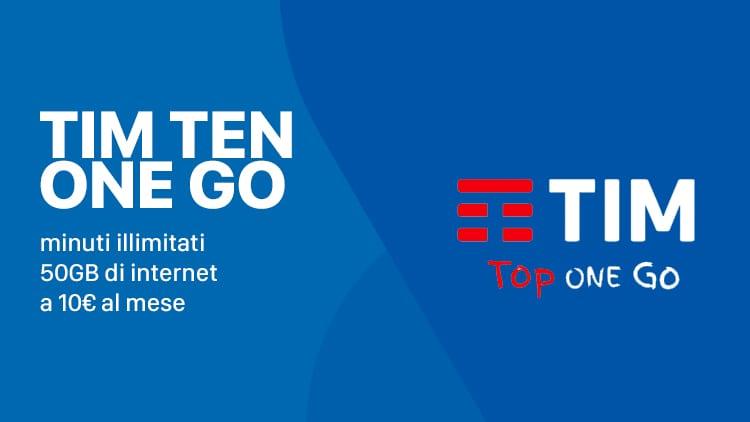 Torna la TIM Ten One Go: 50GB di internet a 10€ al mese (per gli utenti Vodafone) 30GB per tutti gli altri