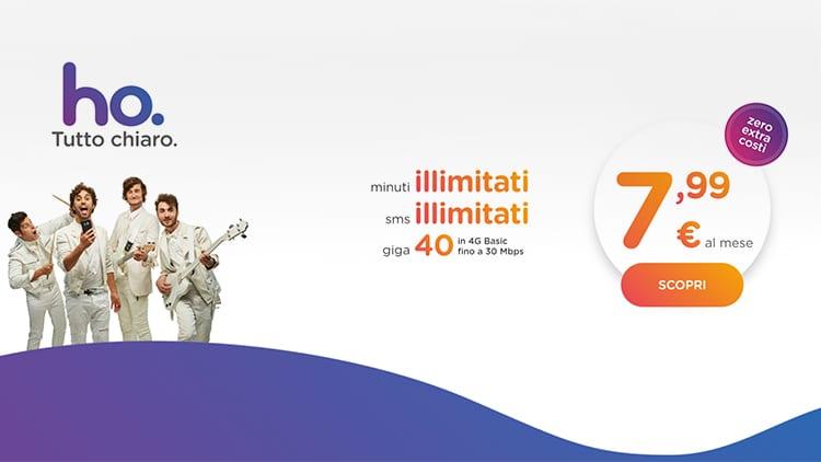 Ho. Mobile risponde ad Iliad con una nuova tariffa: minuti ed SMS illimitati e 40GB a 7,99€