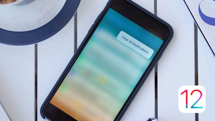 iOS 12 Beta 11 permette di eliminare tutte le notifiche con un solo comando, anche senza 3D Touch