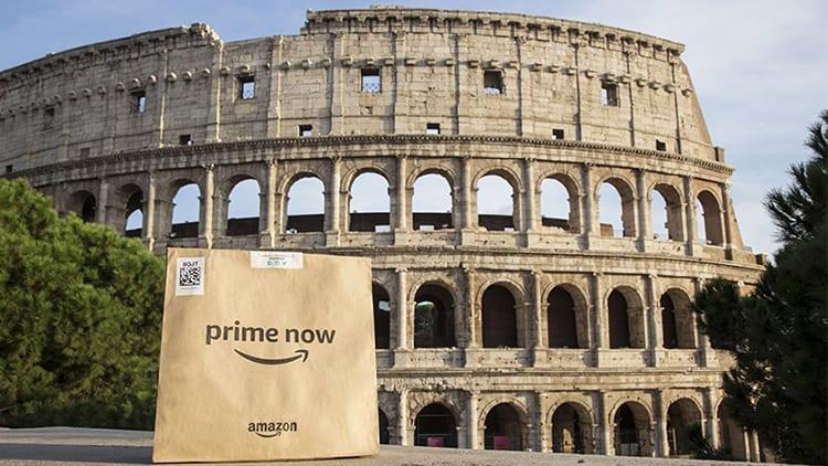 Amazon Prime Now arriva anche a Roma: la spesa con consegna a domicilio entro 1 ora!