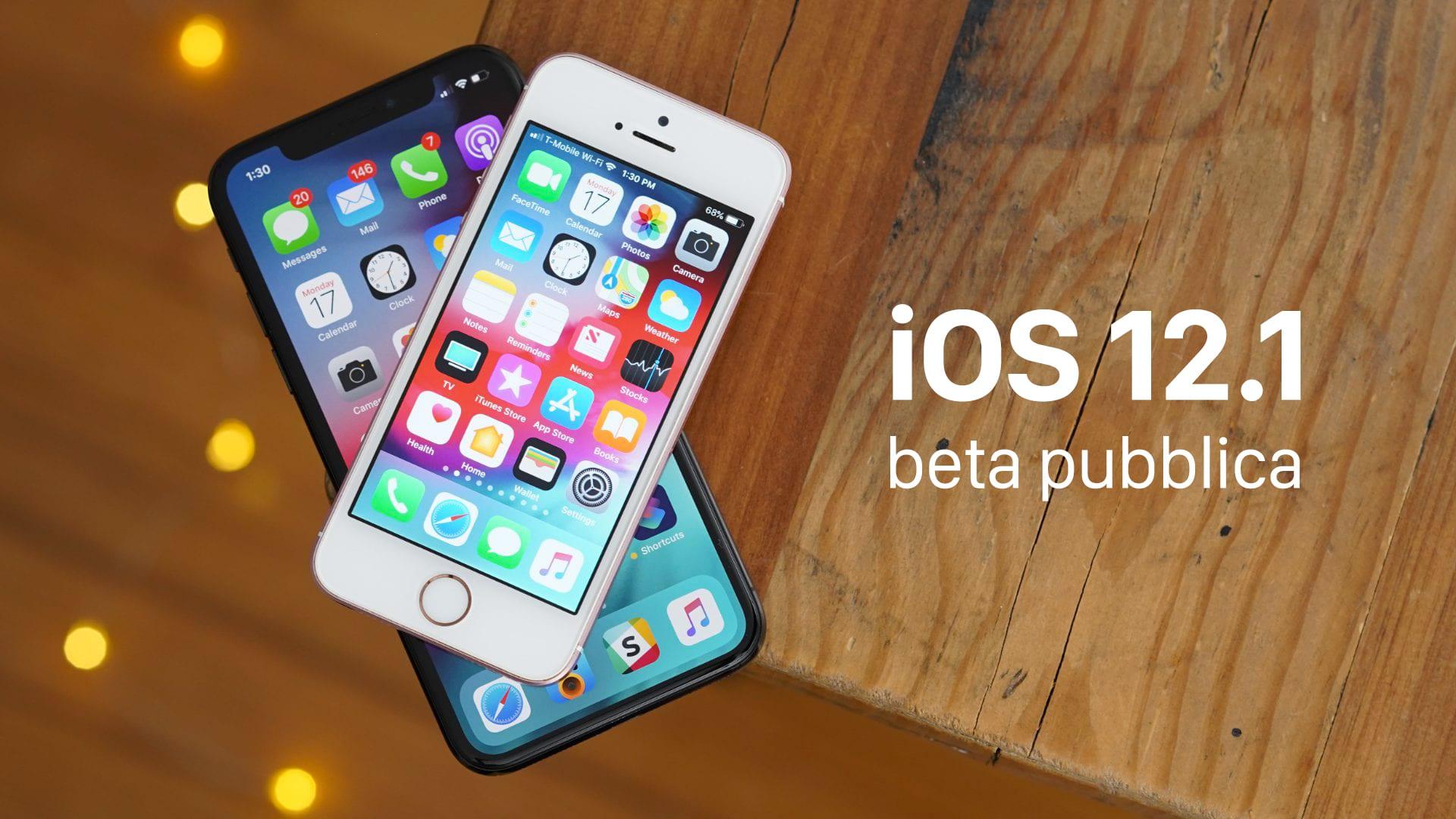 Disponibile la prima beta pubblica di iOS 12.1