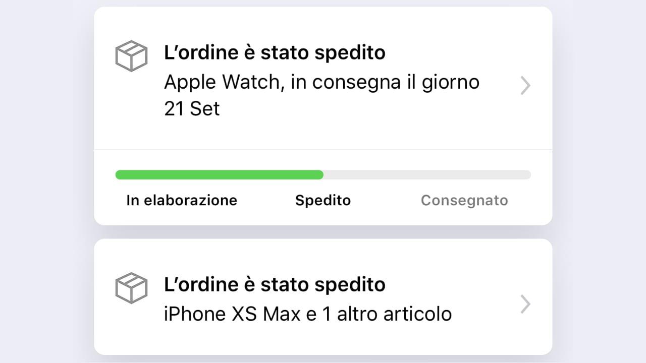 Sono partite le spedizioni di iPhone XS / XS Max ed Apple Watch S4. Le consegne sono previste per domani!