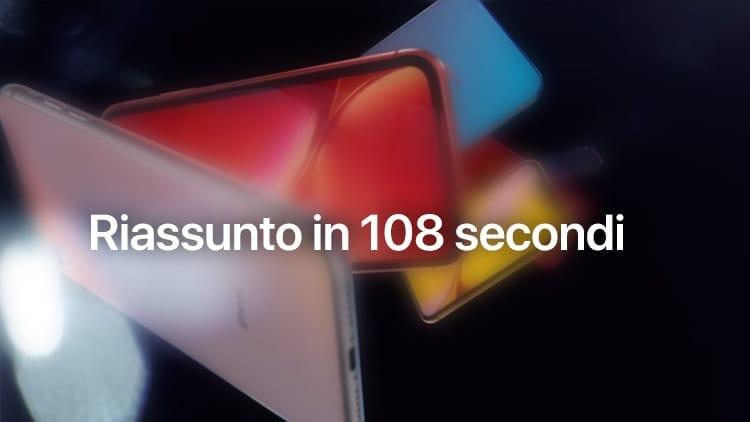 Hai poco tempo? Riguarda l'intero evento Apple in 108 secondi [Video]