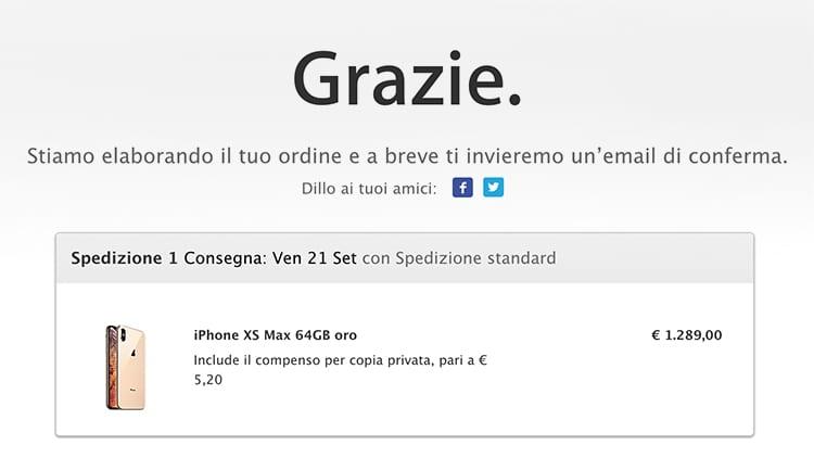 Partono i Preordini di iPhone XS, XS Max ed Apple Watch Serie 4. Le spedizioni sono già arrivate ad Ottobre!