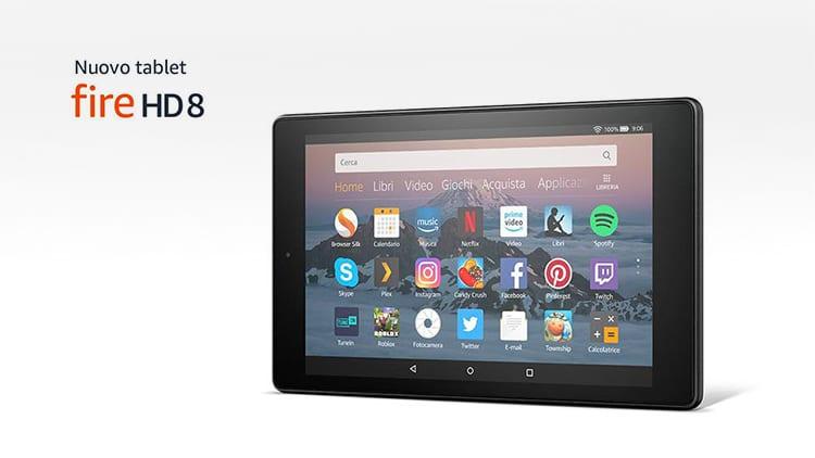 Amazon presenta il nuovo Kindle Fire HD 8: WiFi, 16GB, quad-core, 10 ore di batteria a soli 99€