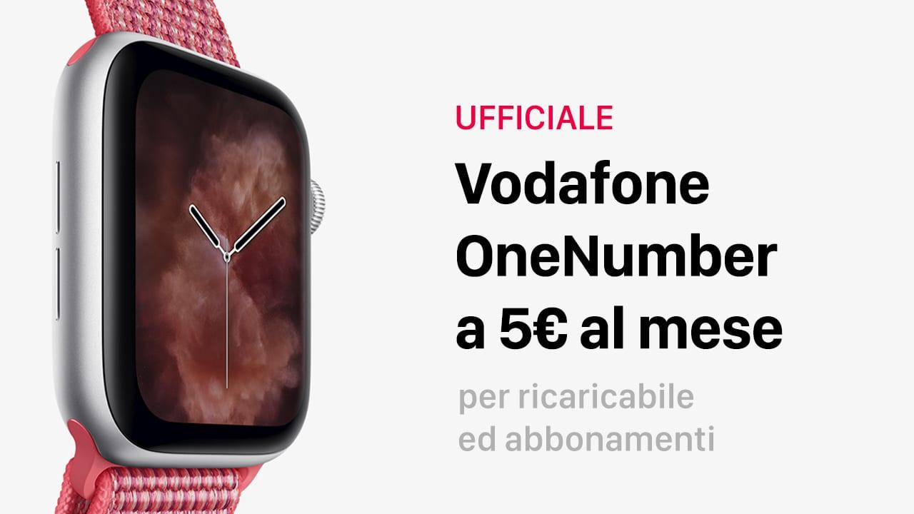 Ufficiale: Ecco OneNumber di Vodafone per Apple Watch Cellular. Funziona anche con prepagate!