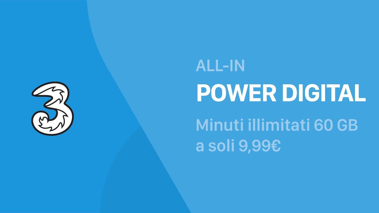 ALL-IN Power Digital: minuti illimitati, 60 GB e Apple Music a 9,99€