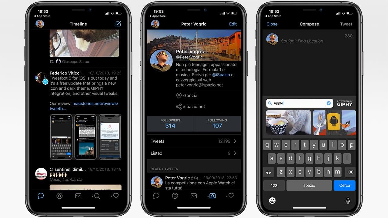 Arriva Tweetbot 5 con la Dark Mode ed il supporto alle GIF