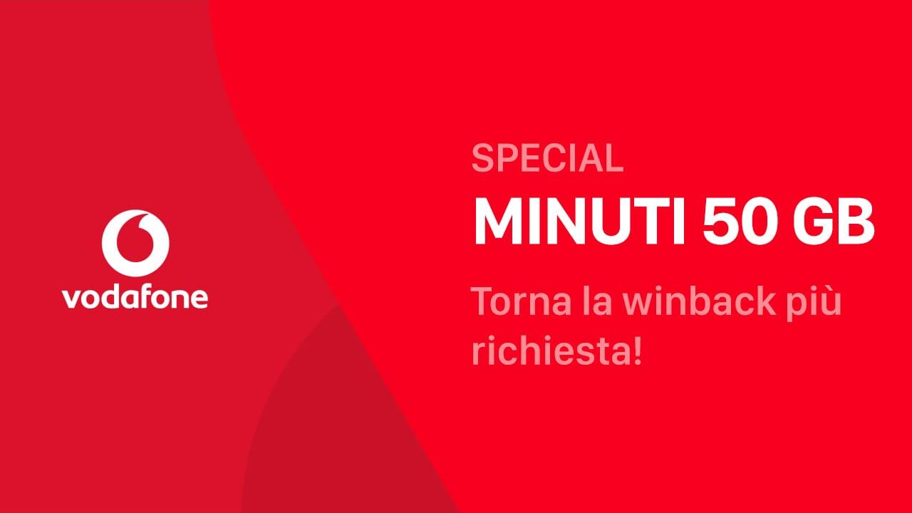 Vodafone Special Minuti 50 GB ritorna a partire da 7,99€