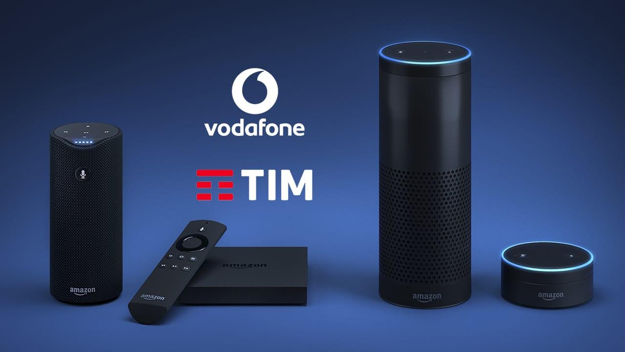 Amazon Alexa sarà l'assistente per il vostro numero TIM e Vodafone