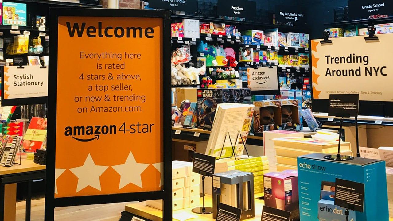 Amazon 4-star, apre a New York il negozio che vende prodotti valutati con almeno 4 stelle