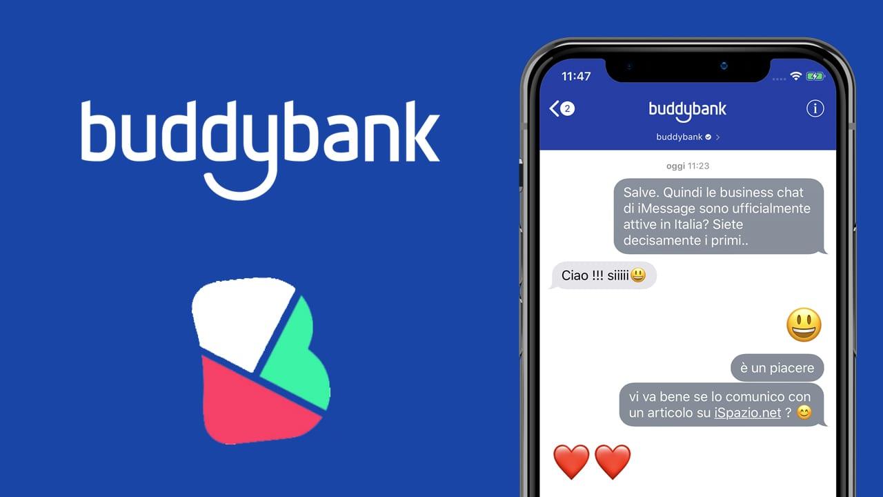 Le Business Chat di iMessage sono ufficialmente attive in Italia: BuddyBank tra i primi a supportarle