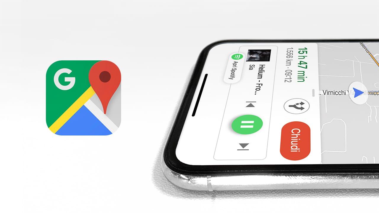 Ecco come aggiungere i controlli multimediali per Spotify o Apple Music all'interno di Google Maps