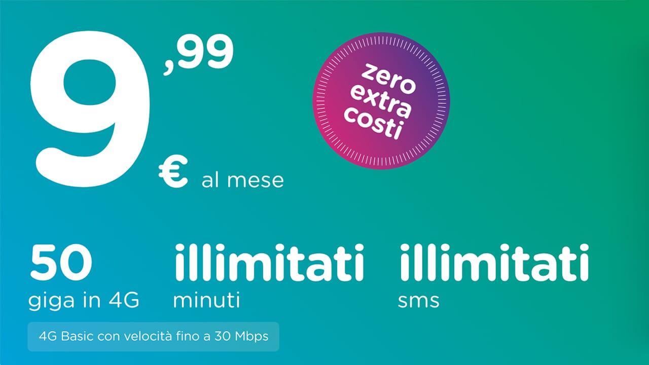 Ho. mobile semplifica tutto con una sola offerta: minuti/sms illimitati e 50GB a 9,99€