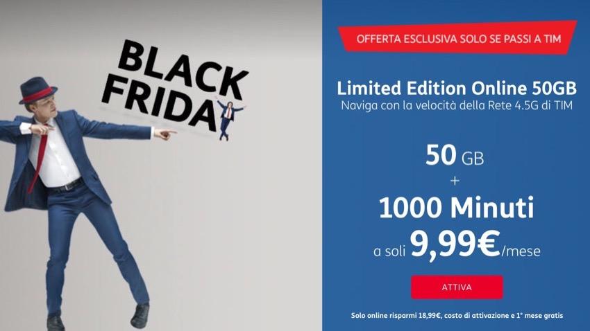 Black Friday TIM: 50 GB e 1000 minuti a 9,99€ con attivazione gratuita