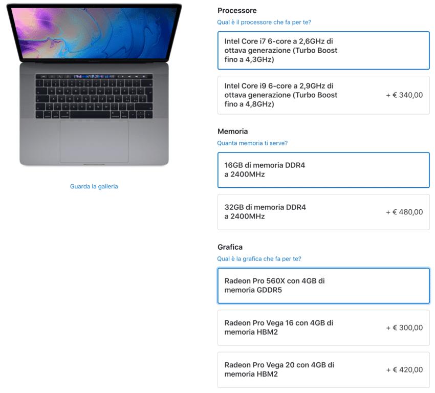 macbook pro grafica radeon pro vega