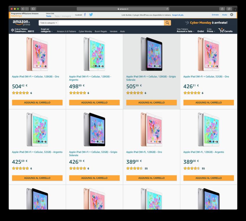 Apple iPad su Amazon