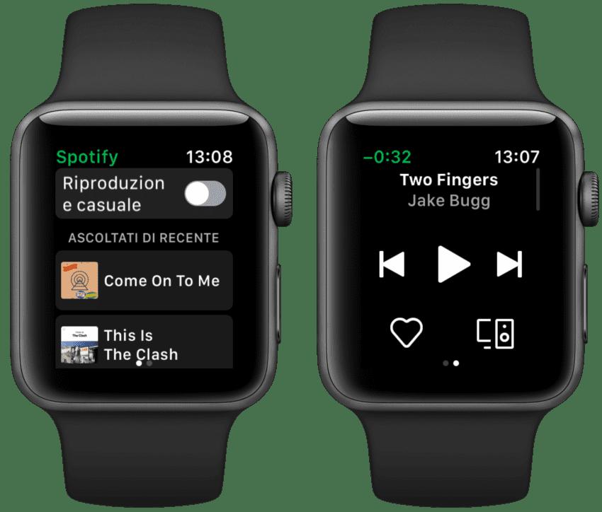 spotify per apple watch