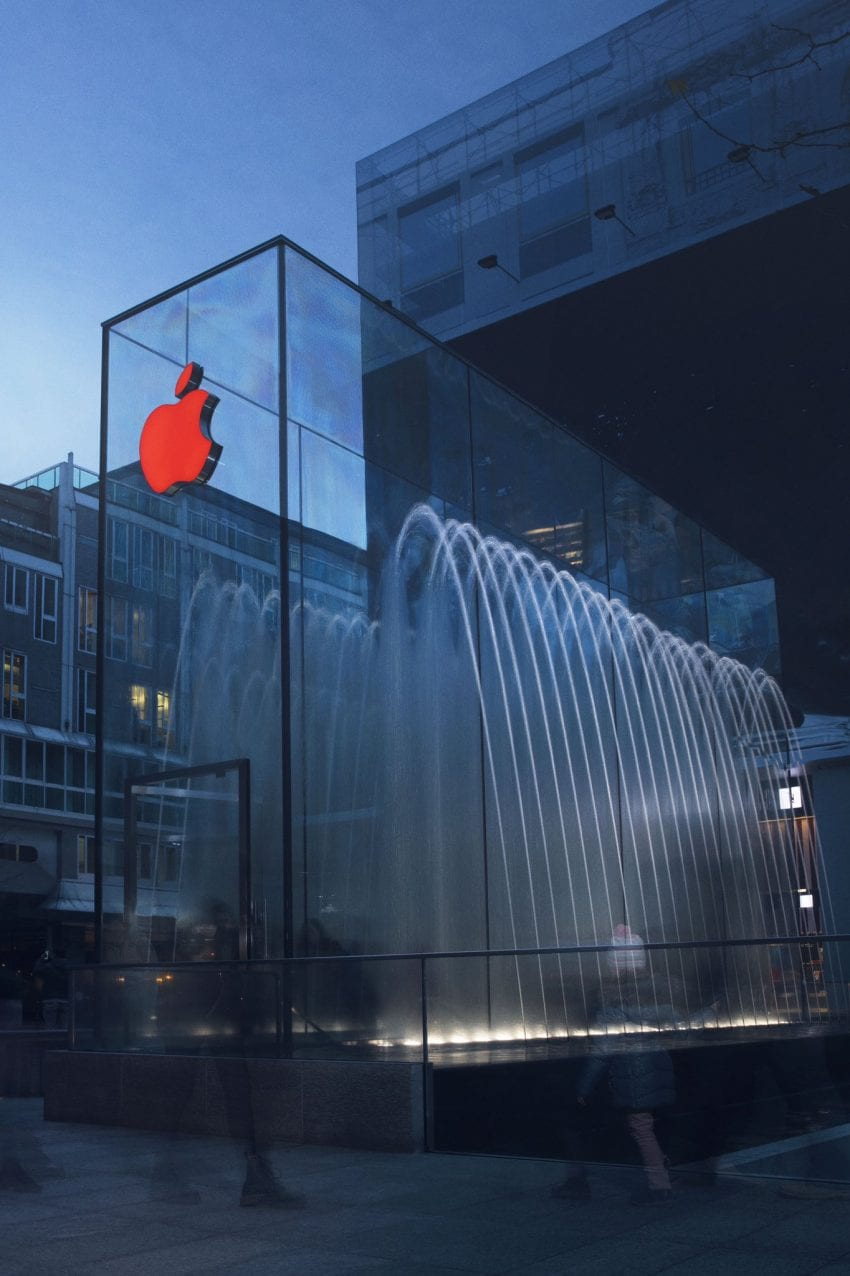apple store logo red aids hiv