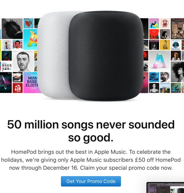 homepod email sconto