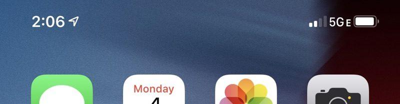 L'indicatore 5G E introdotto da AT&T con iOS 12.2 beta 2
