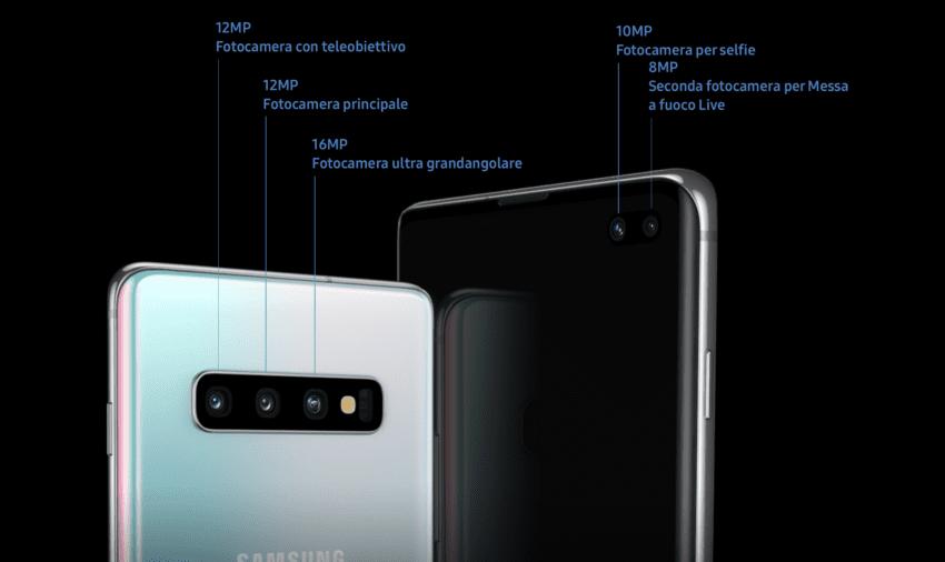 Galaxy S10e S10 S10+ fotocamere s10+