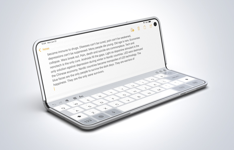iPhone X Fold Laptop mode