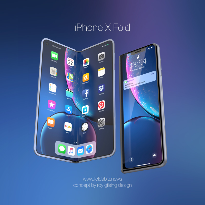 iPhone X Fold vista frontale