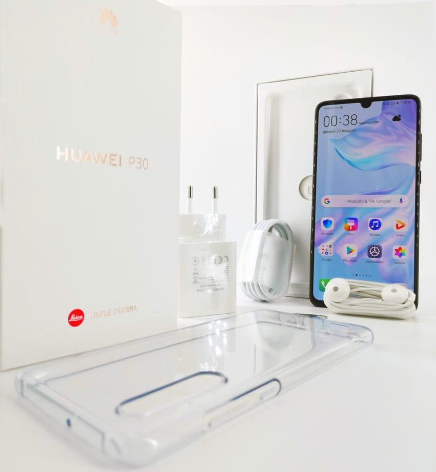 Huawei P30 confezione