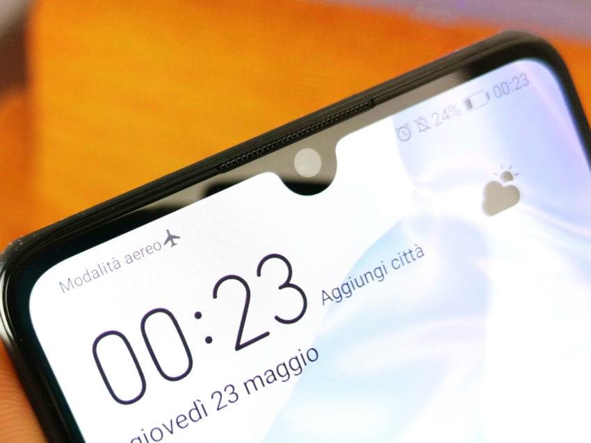Huawei P30 camera frontale