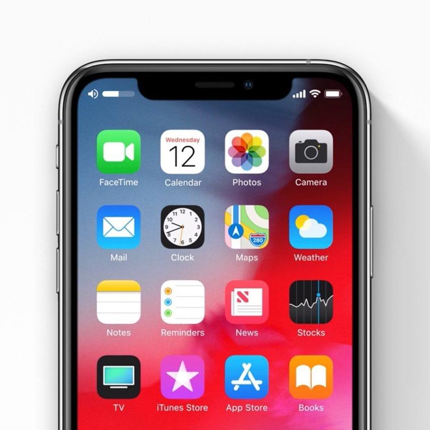 iOS 13 volume indicator