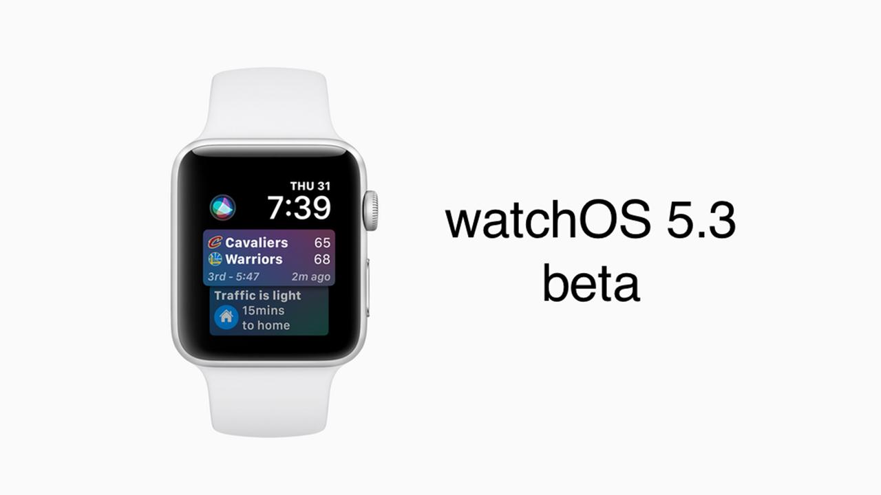watchOS 5.3 beta 3