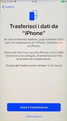 migrazione dati iPhone