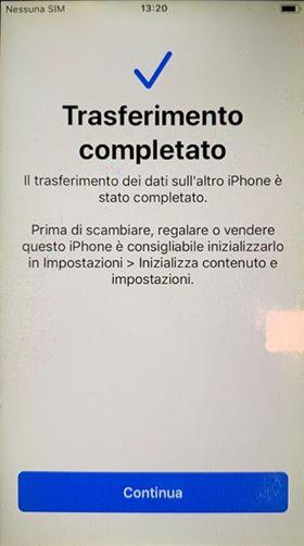 migrazione dati iPhone 3