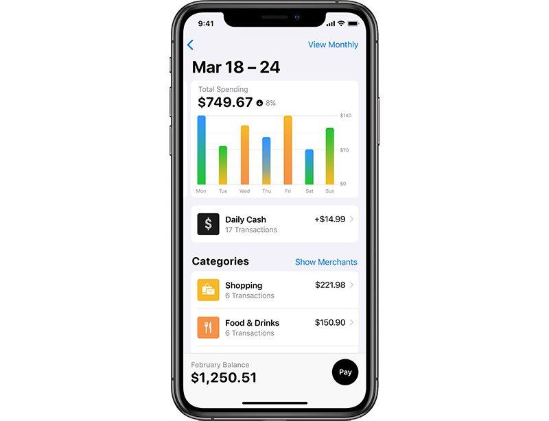 Apple Card categorie spese