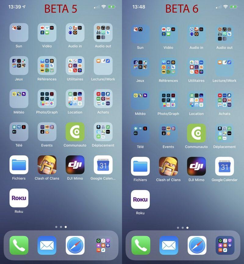 cartelle iOS 13 beta 6