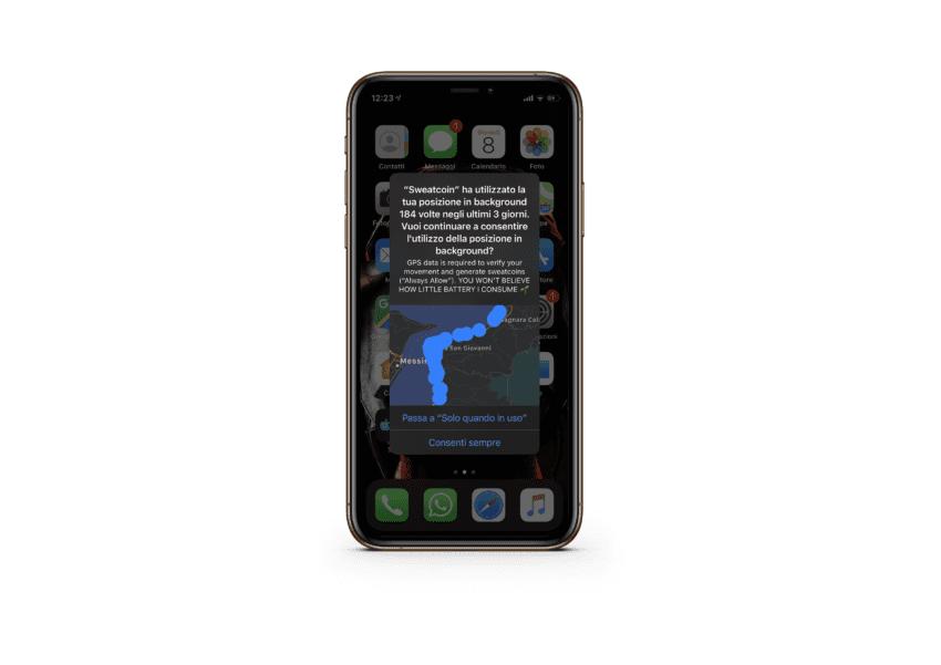 avviso sulla posizione iOS 13 beta 6