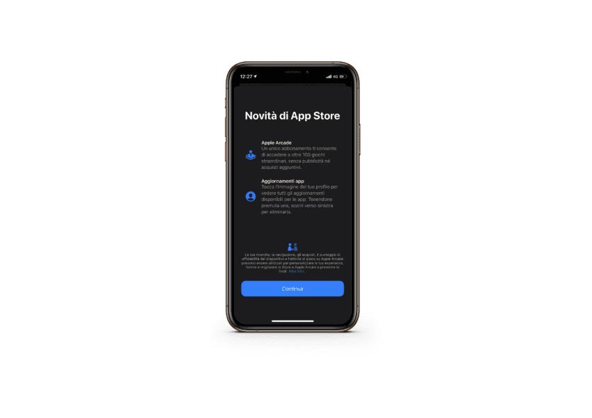 nuova schermata iniziale App Store