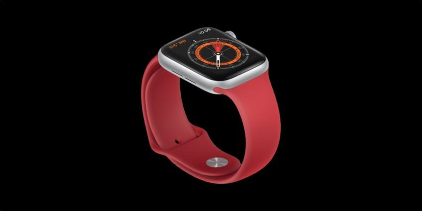 Apple Watch series 5 bussola