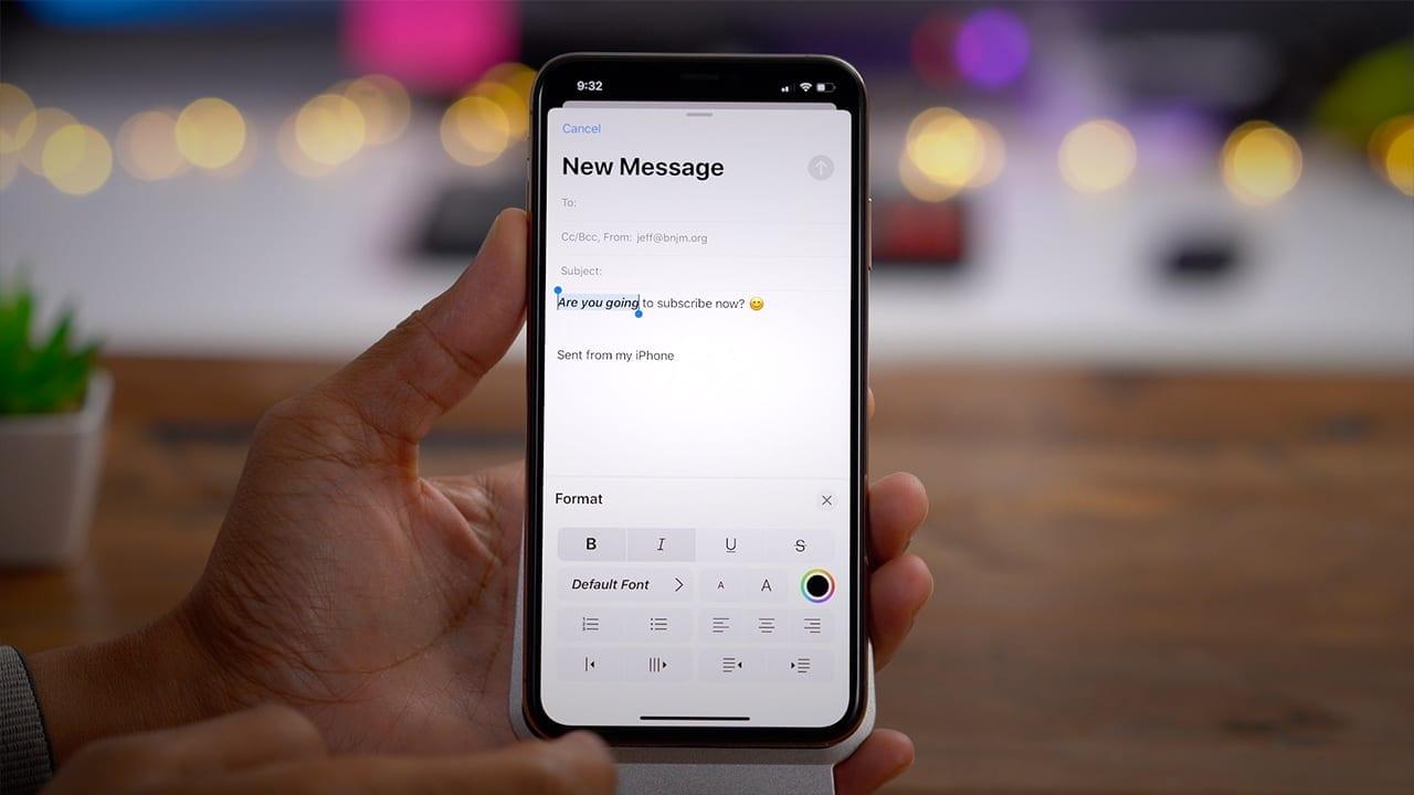 Mail iOS 13