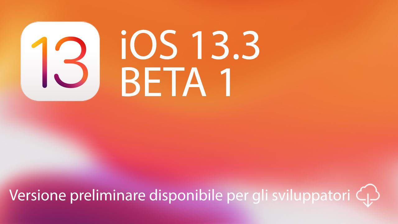iOS 13.3 beta 1
