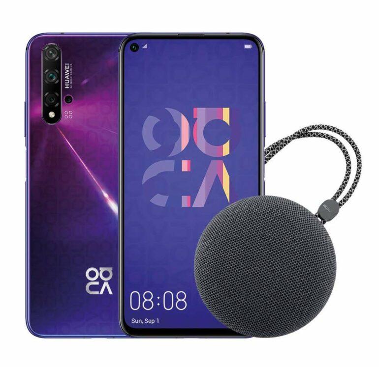 Huawei Nova 5T su amazon con speaker Bluetooth in omaggio