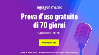 Photo of Amazon per Sanremo 2020, offre 70 giorni di Musica illimitata e Gratuita in streaming