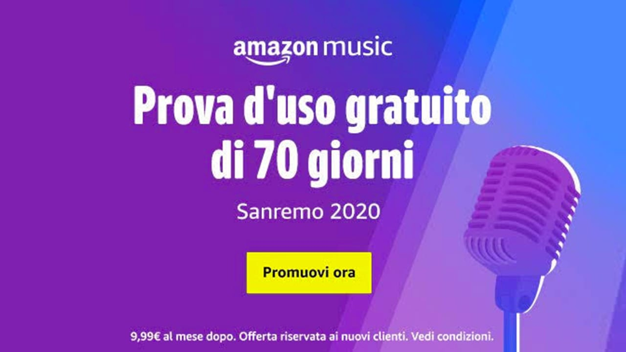 amazon music unlimited sanremo 2020