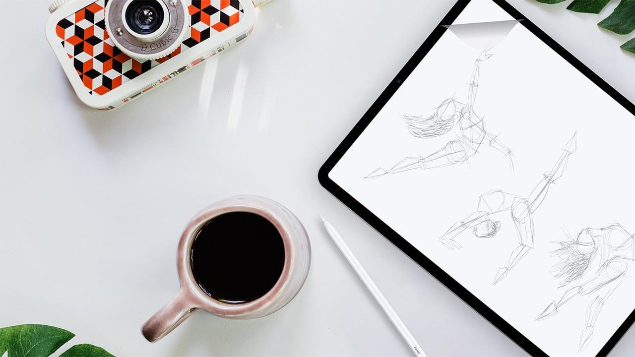 Pellicola carta iPad Doodroo