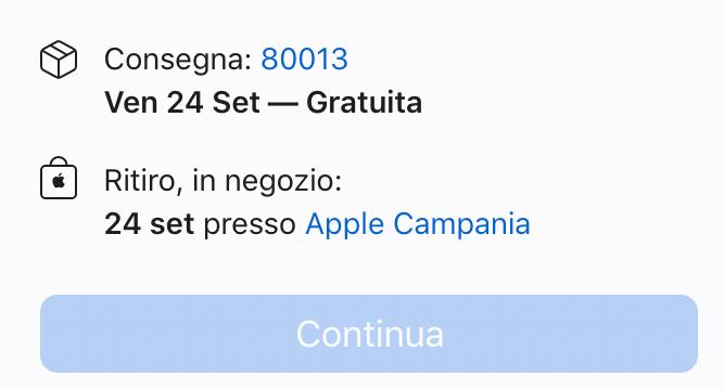 disponibilità iphone 13 pro